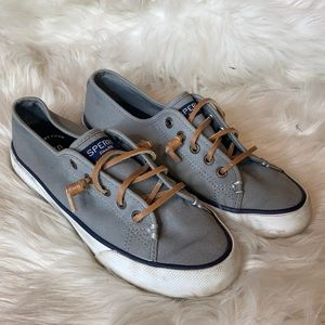 Sperry Top Sider Seacoast Canvas Boat Shoes 5